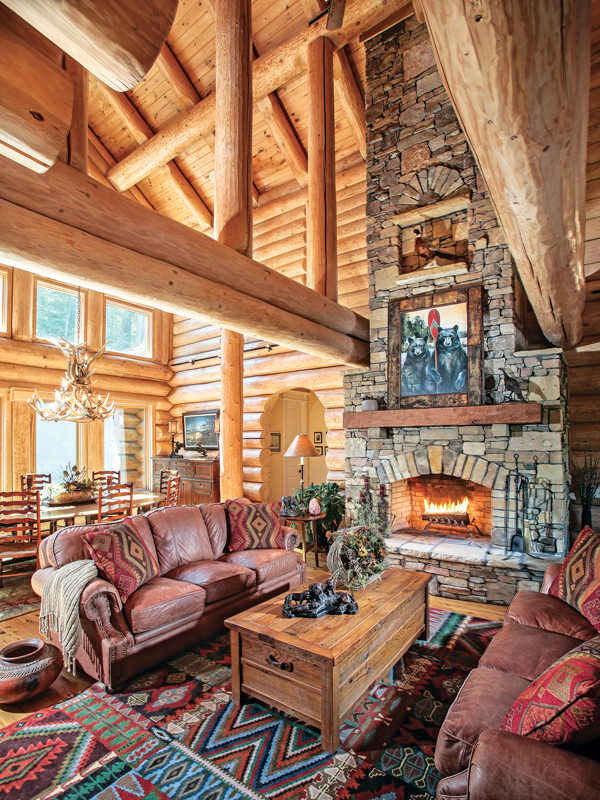 Classic full log homes log cabin builders custom handcrafted log home log cabins log Rustic style attic design a corner full of passion