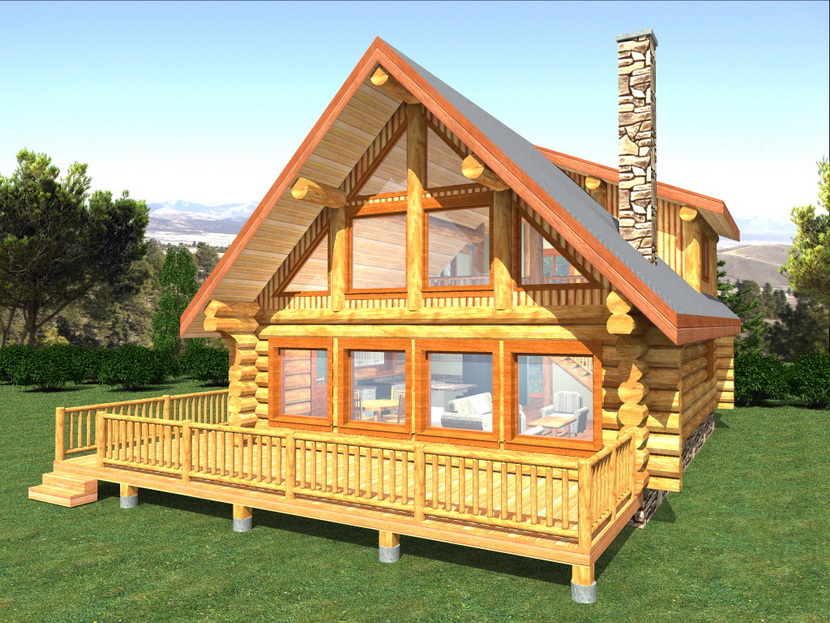North american log crafters handcrafted log homes in bc for A frame house plans canada