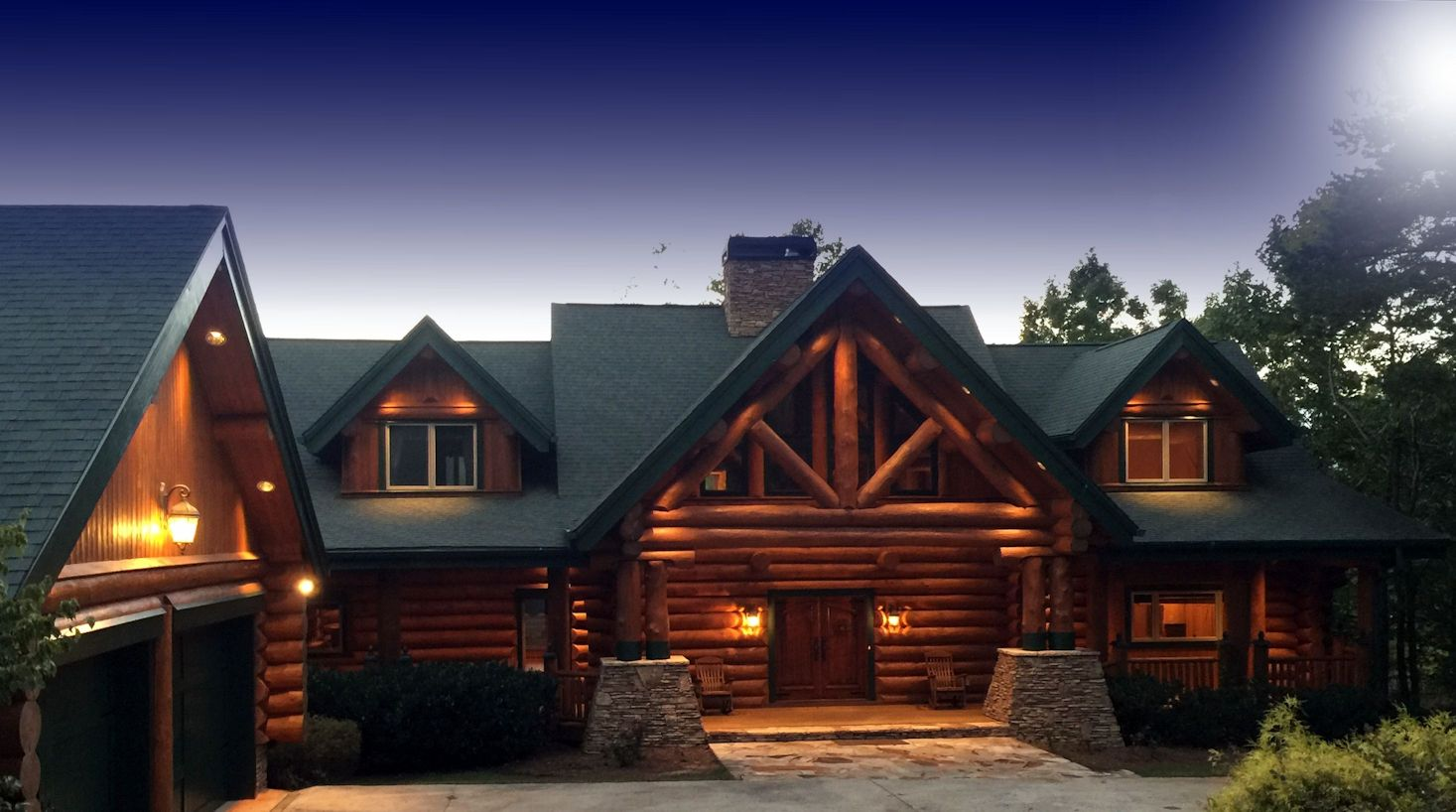Classic full log homes log cabin builders custom for Home builders in canada