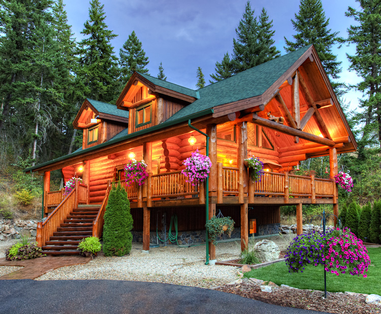 Classic full log homes log cabin builders custom for Unique log homes