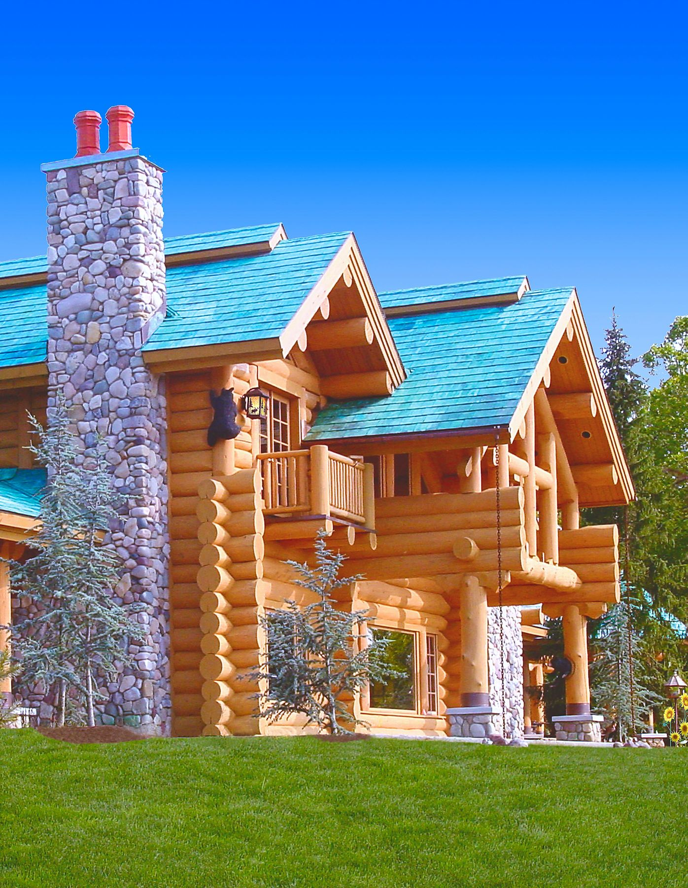 Classic full log homes log cabin builders custom for House log