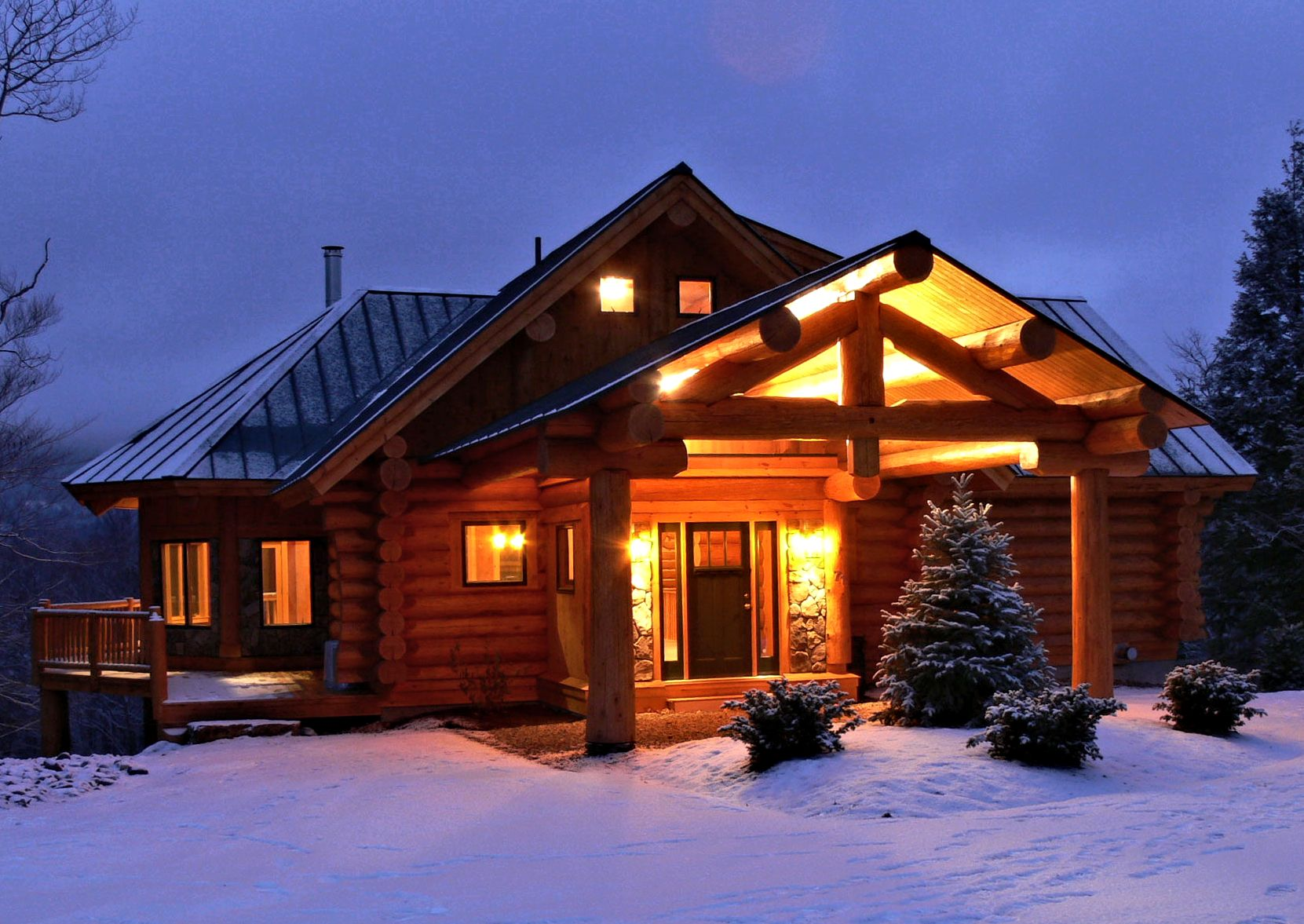 Classic full log homes log cabin builders custom for Log cabins homes