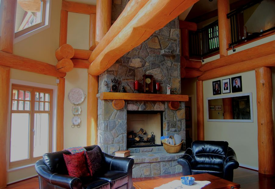 Log Post and Beam Interior