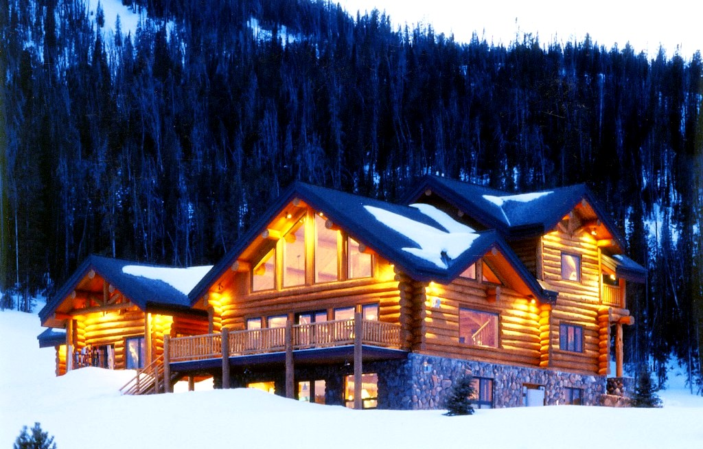 Classic full log homes log cabin builders custom for Luxury winter cabins