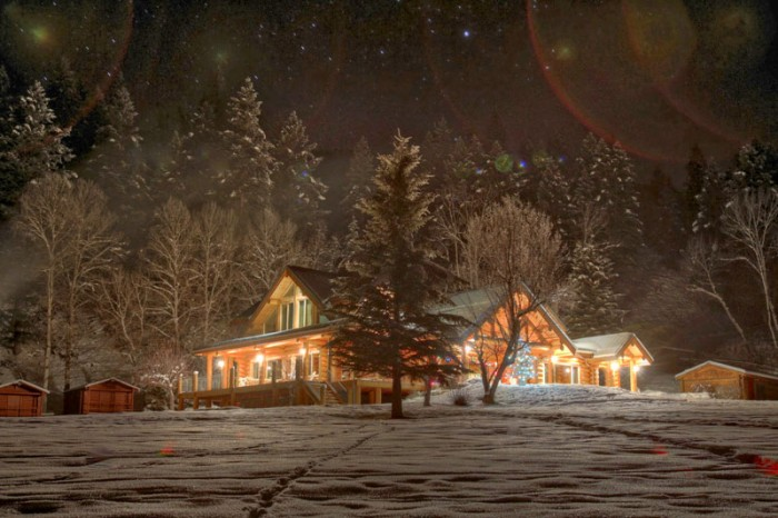 Canadian Log Home
