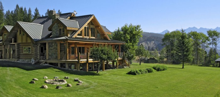 Classic full log homes log cabin builders custom for Log homes plans canada