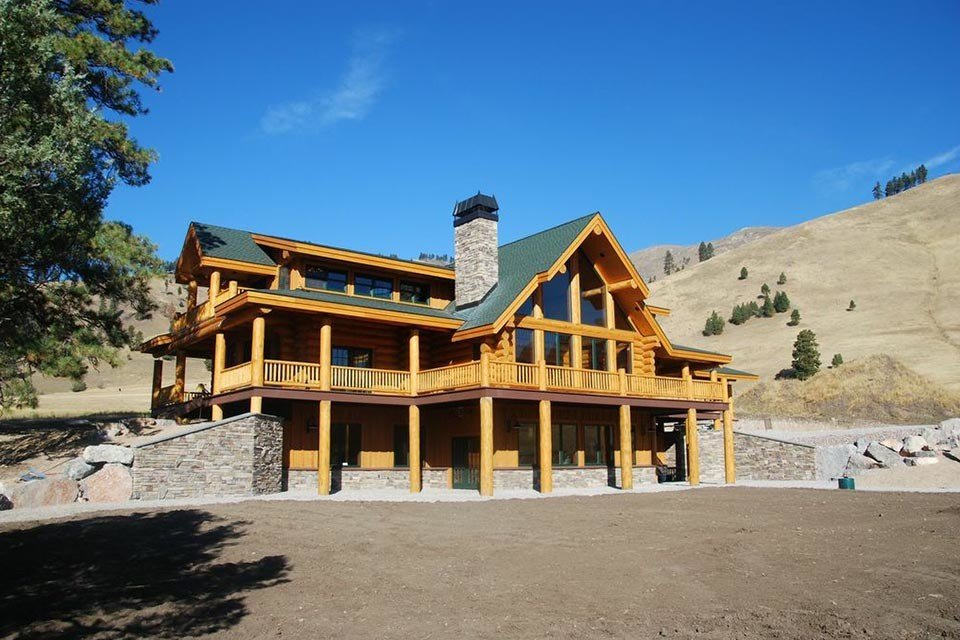 Montana Ranch House Of Log Home Portfolio Montana Ranch Luxury Country Log Home