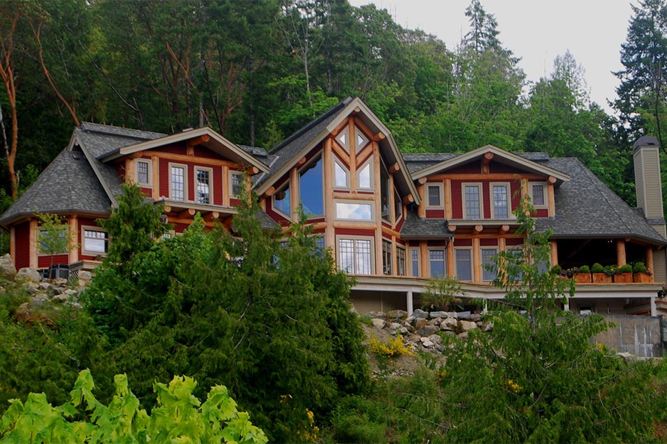 Portfolio shawnigan 0000s 0000 island post and beam 23 for Post and beam ranch homes