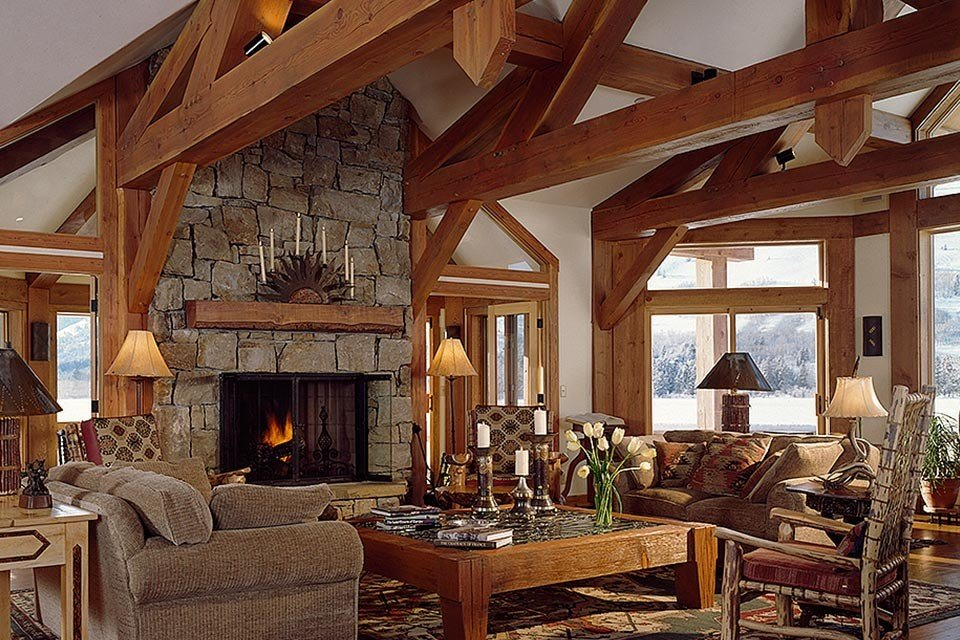 Portfolio timberframe construction wyoming for Cost of building a house in montana