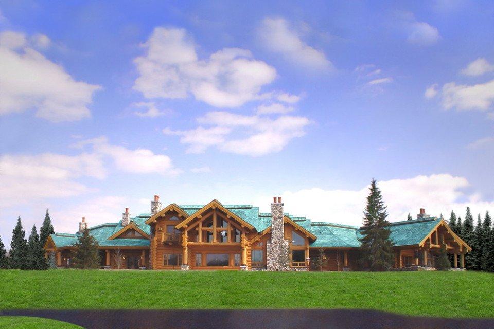 Log Home Builders Custom Luxury Estate