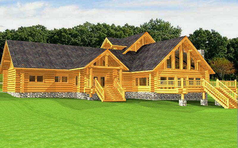 Log Home Package Bintliff Plans Designs International