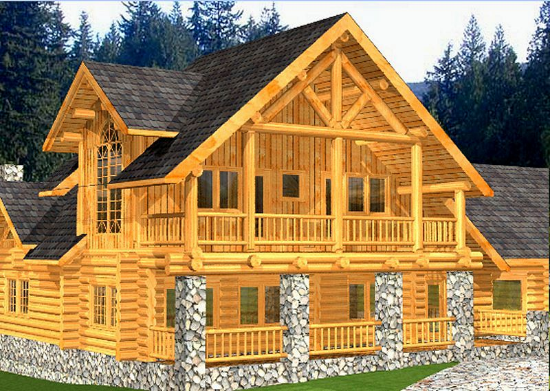 Log home package bintliff plans designs international Cabin floor plans and prices