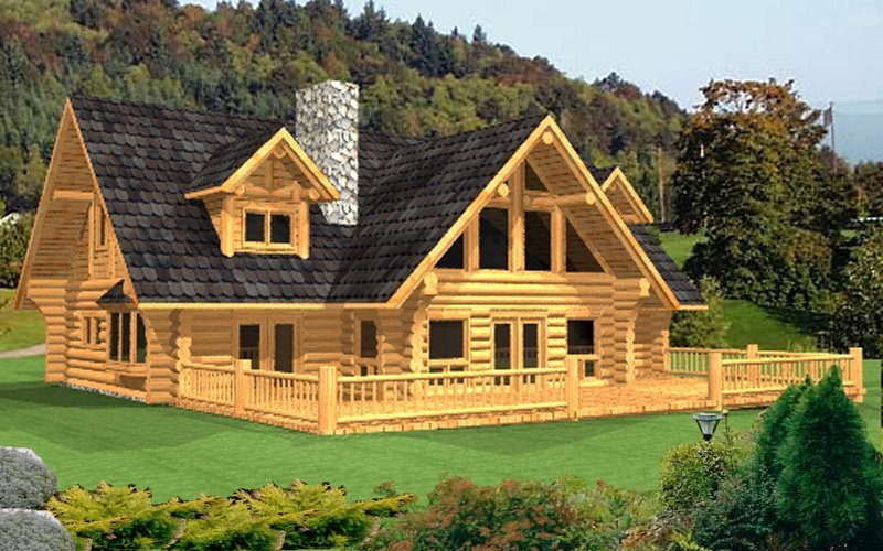 Log home package lamberti plans designs international for Log cabin plans canada