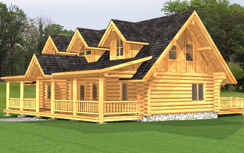 Log Home Macaffrey 1