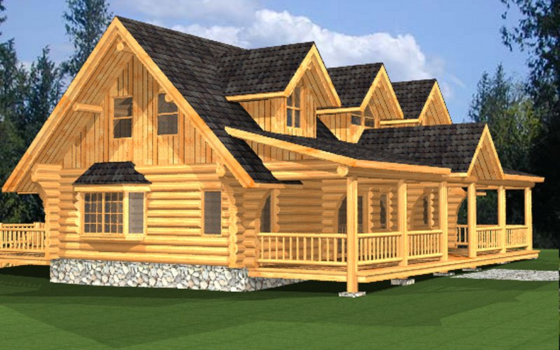 Log home package macaffrey plans designs international for Global house plans