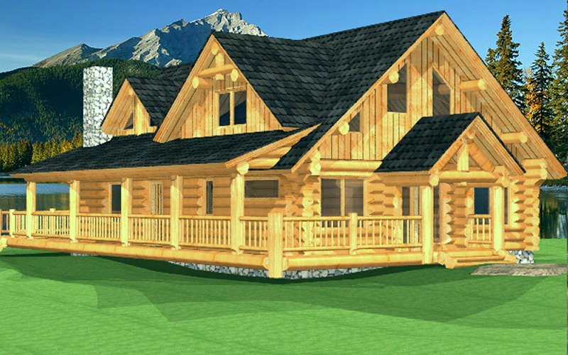 Log Home Poirier1
