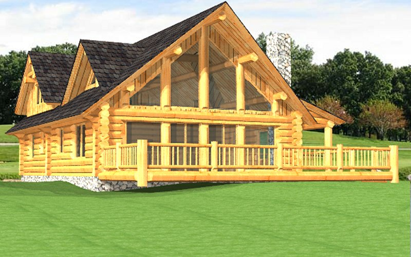 Log home package poirier plans designs for Log home plans prices