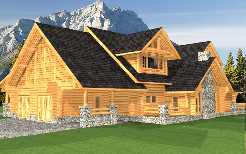 Log Home Sullivan 1