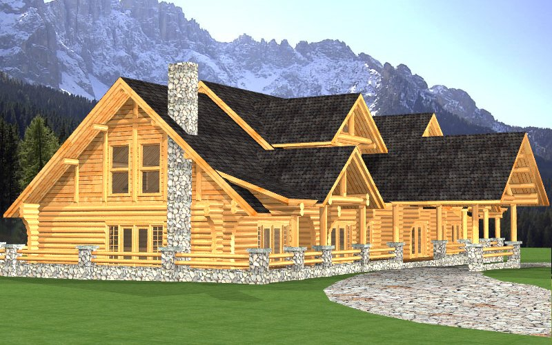 Log Home Sullivan 2