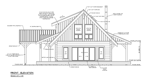 Log home building architectural plans-Special Offer