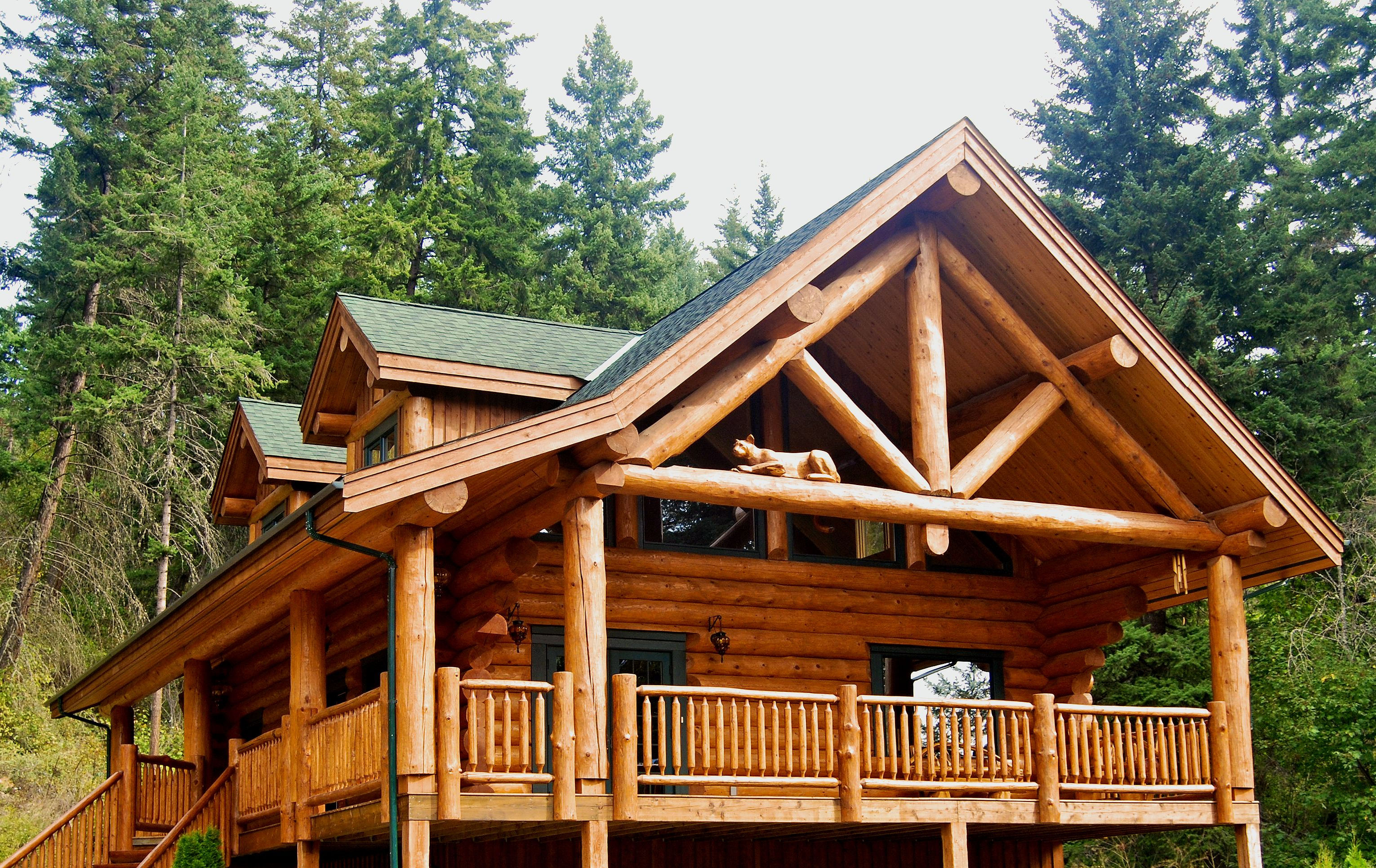 Log Cabin Home North American Log Crafters