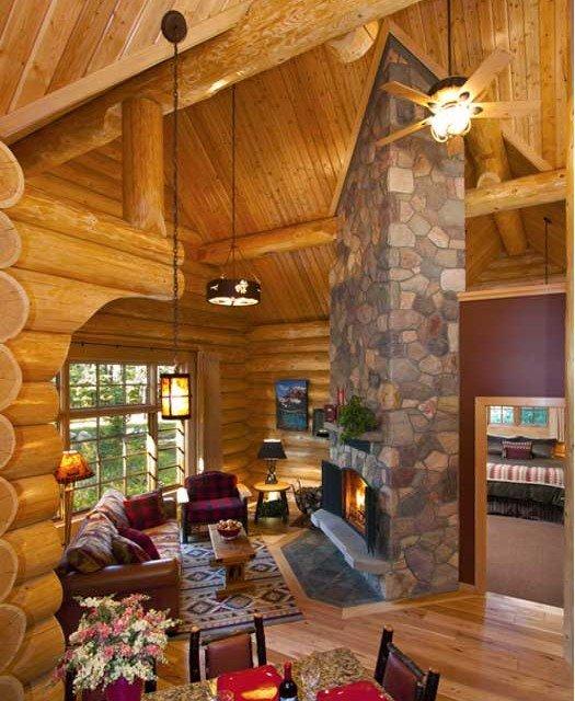 Lake Luxury Log Homes: Log Post And Beam