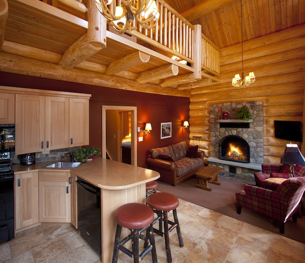 Luxury Log Cabin Resort Alpine Village Jasper Alberta