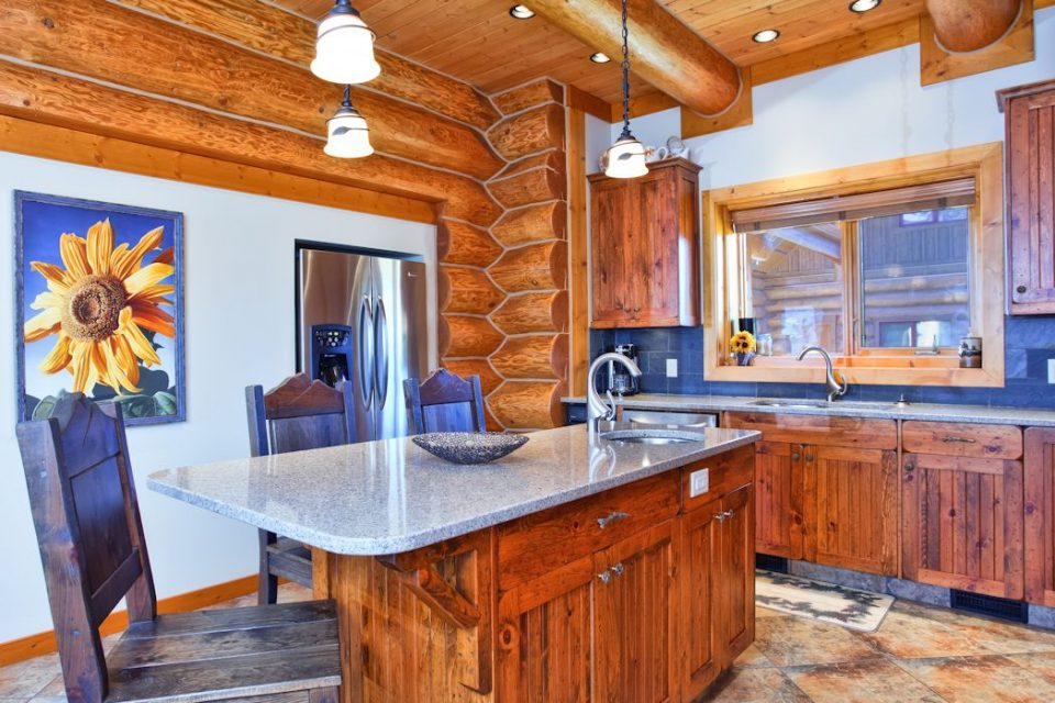 Log Cabin Country Kitchen