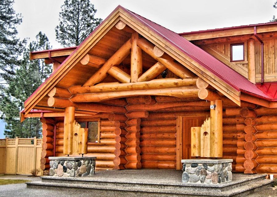 Log Cabin Exterior Entry