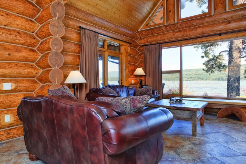 Log Cabin Living Room View