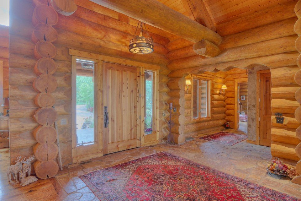 Log Home Inside Door