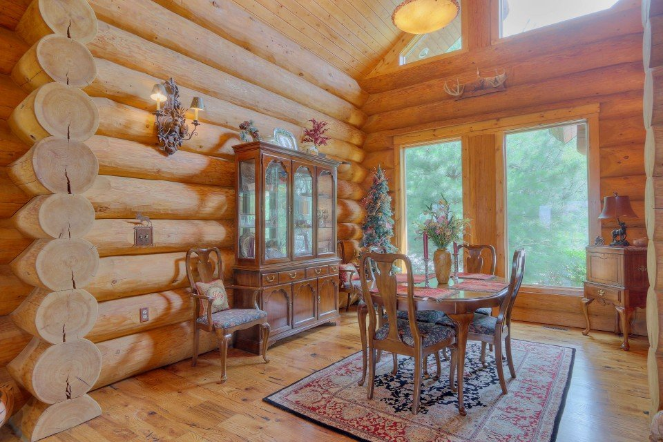 Log Home Interior Dining