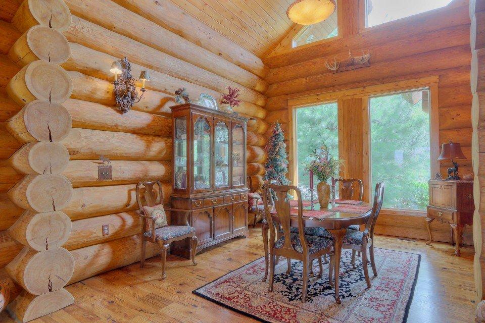 Log Home Interior Dining