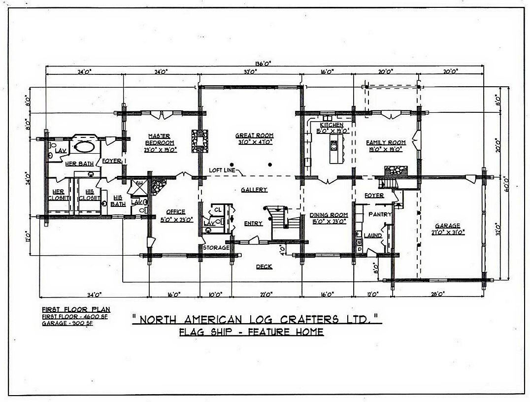 Timeless log home style north american log crafters for Timeless house plans