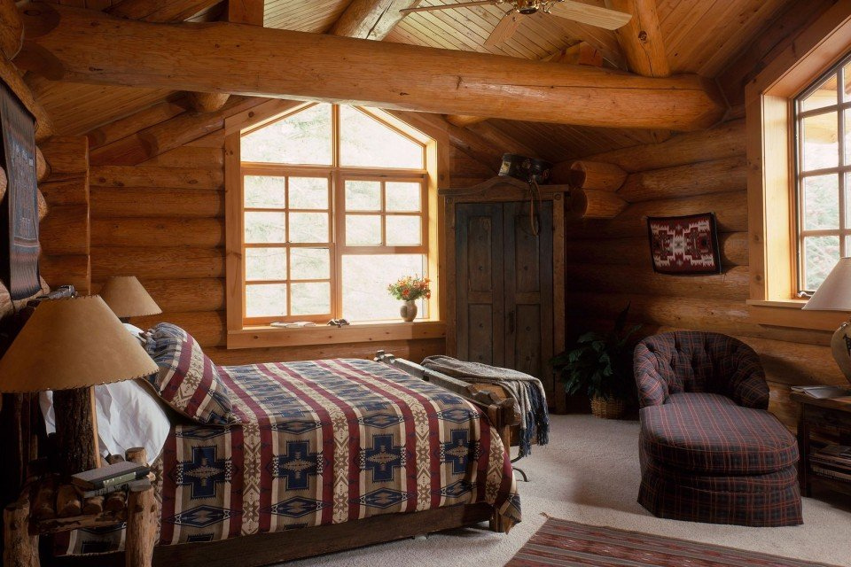 Rustic Log Bedroom