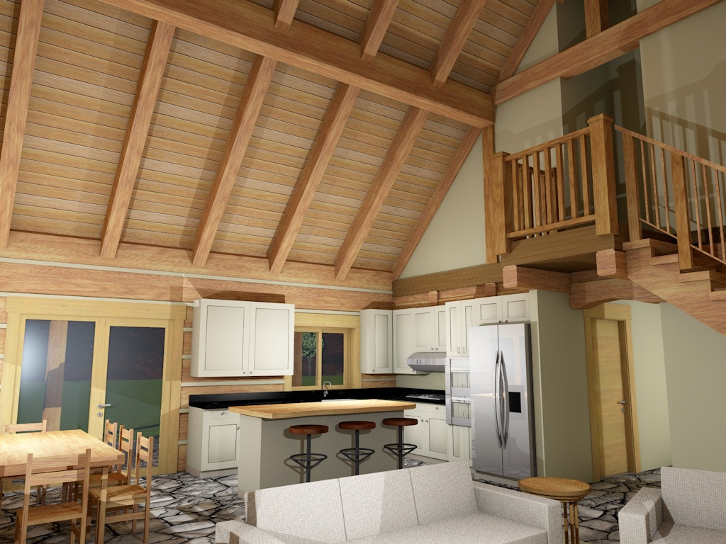 Dovetail Log Interior 1