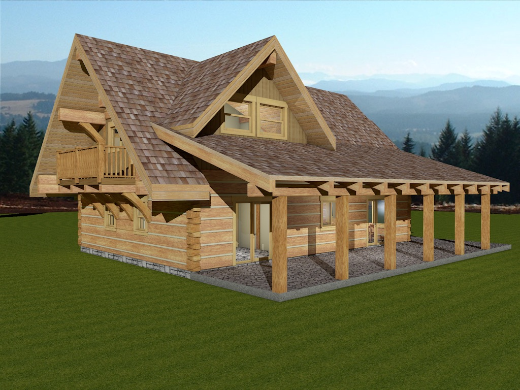 Dovetail Log Cabin Sweetgrass 4
