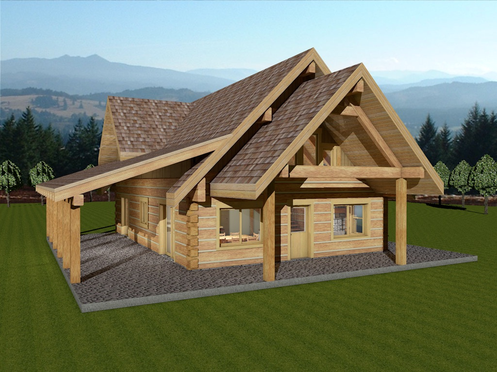 Log home package sweetgrass dovetail plans designs for Log home house plans designs