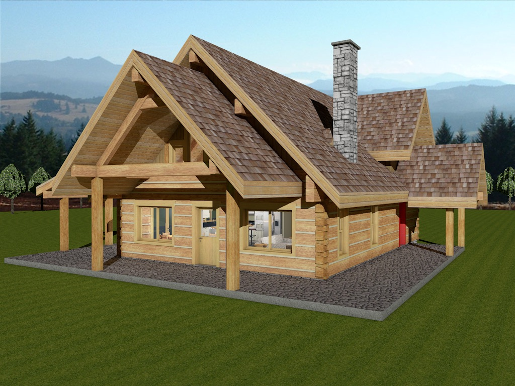 Marvelous photograph of Log Home Package Sweetgrass Dovetail Plans Designs with #1A8AB1 color and 1024x768 pixels