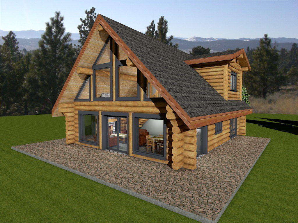 Horseshoe bay log house plans log cabin bc canada for Plans for log homes