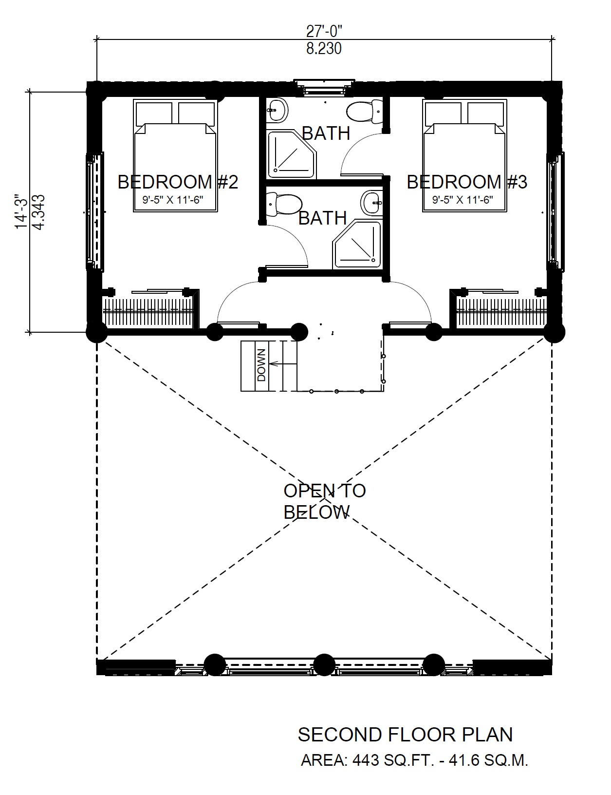 Horseshoe bay Log Cabin Variation Second Floor