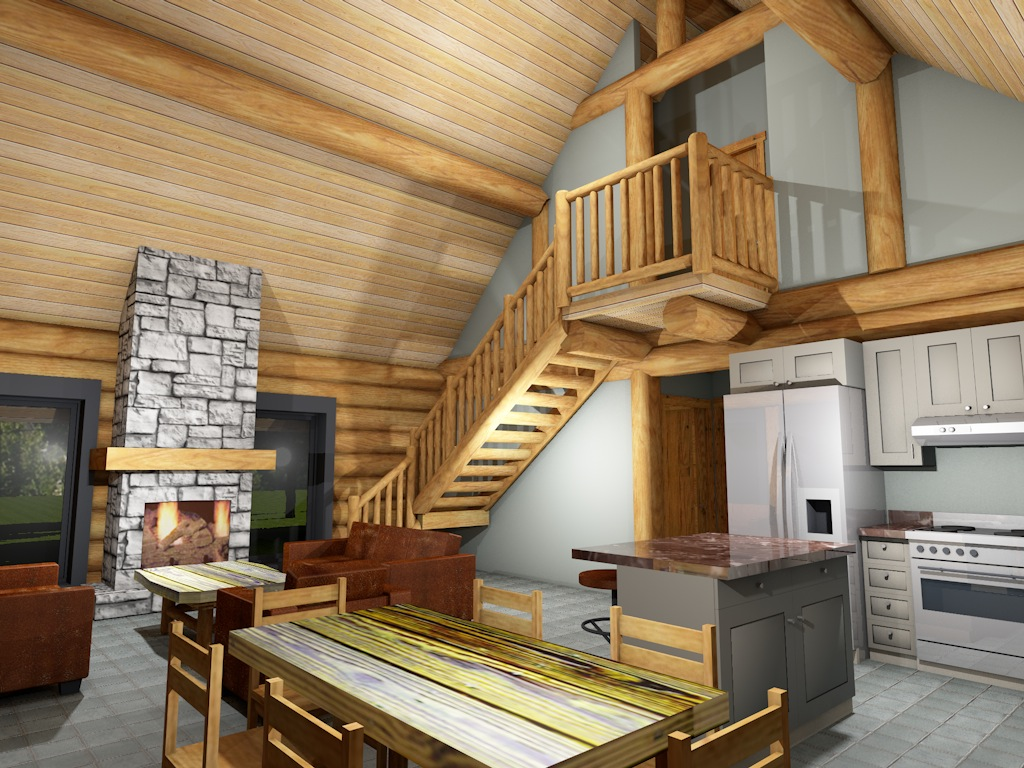 Log Cabin Interior 3
