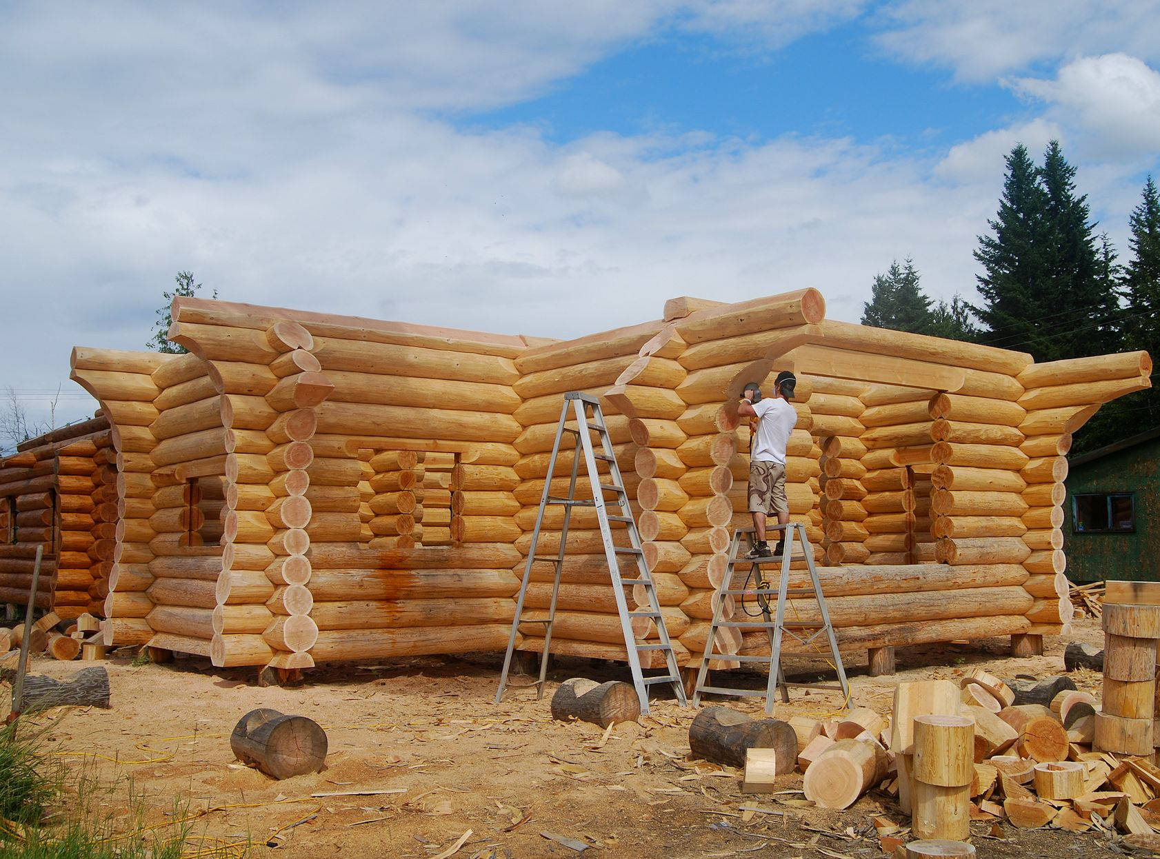 Constructing your log home or cabin log home process for Log cabin builder