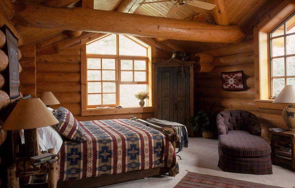 rustic-log-bedroom