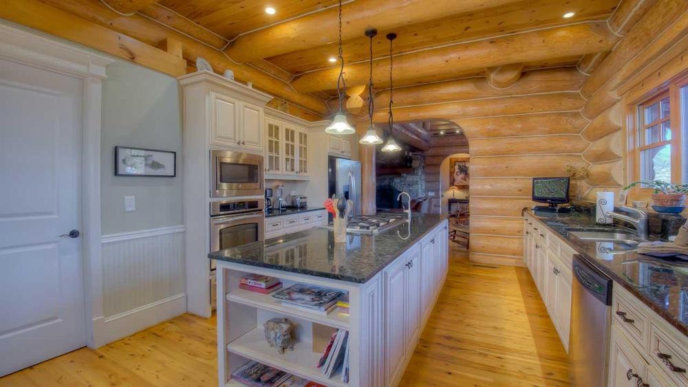 Log Home Kitchens North American Log Crafters