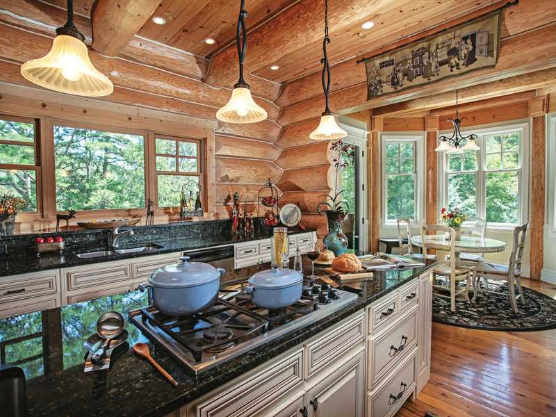 Luxury Log Kitchen