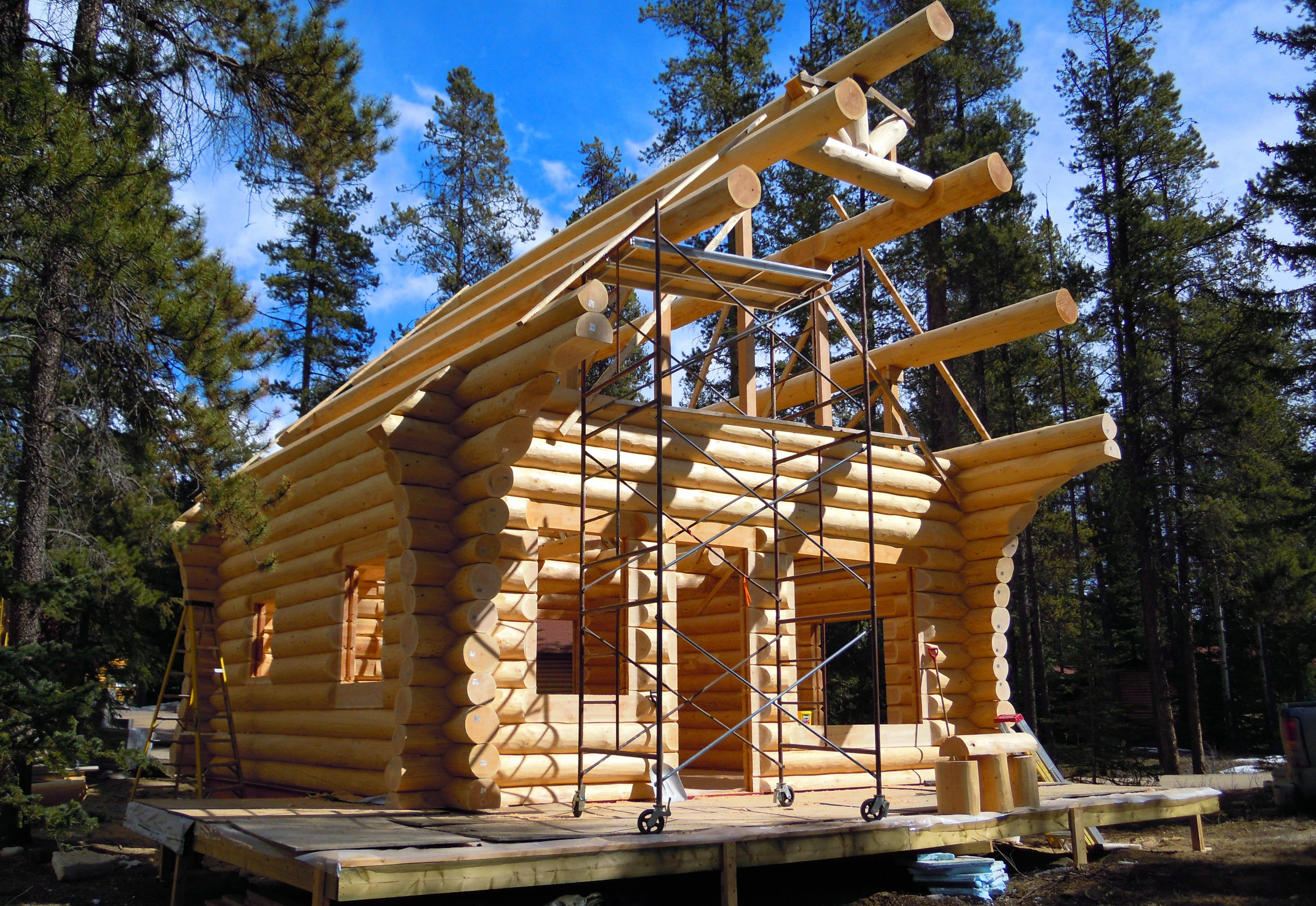 Building a log cabin north american log crafters for Log cabin builder