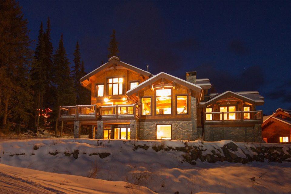Timber Home Winter