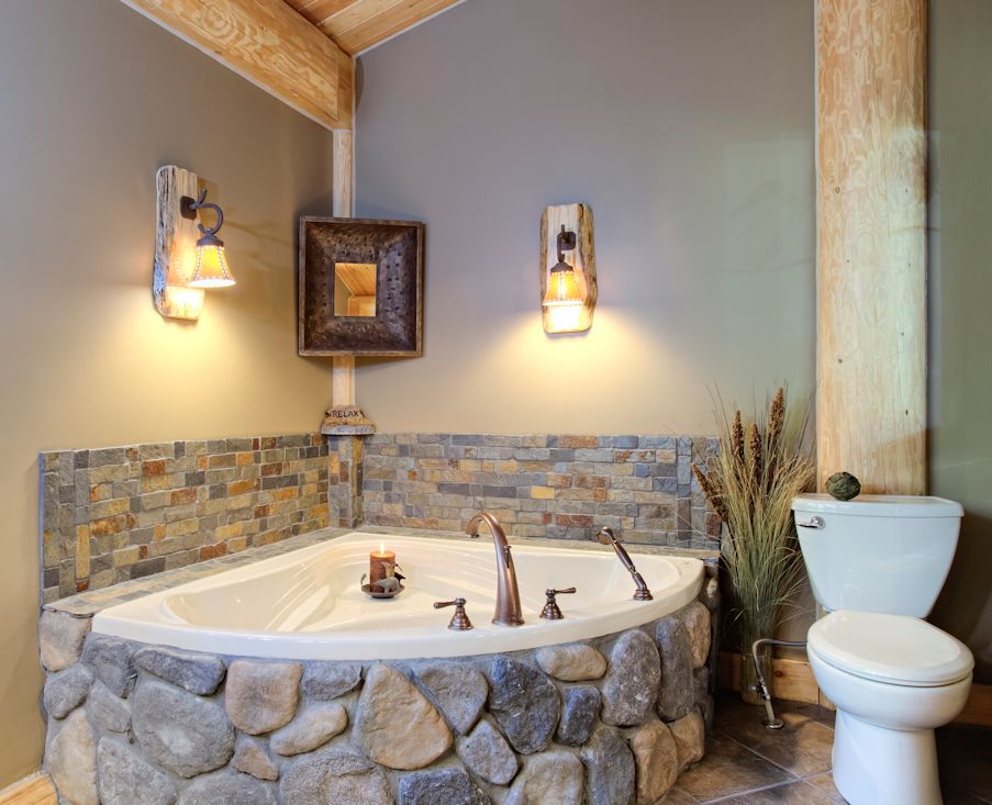Natural Stress Relief Log Cabin Bathrooms North American Crafters